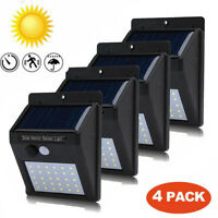 4X 30LED Solar Powered PIR Motion Sensor Wall Security Light Outdoor Lamp