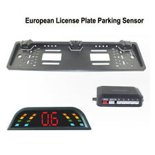 EU Car License Rearview Camera Plate Frame Two Reversing Radar Parking Sensors