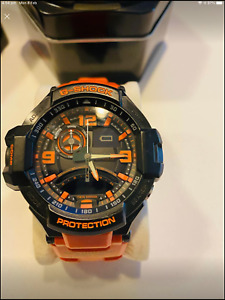 Casio G-Shock Gravitymaster Analogue Digital Mens Black Orange Watch GA-1000-4AD