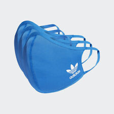 3 PACK LARGE BLUE ADIDAS FACE MASK COVER 100% AUTHENTIC  FACTORY SEALED