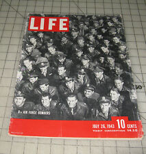 LIFE (July 26, 1943) Good- Condition Magazine - 8th Air Force Bombers Cover