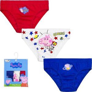 Underwear Boys Briefs Knickers Peppa Pig 3 Piece 92-98 104-110 116-122 #31