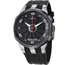 Perrelet Men's Turbine XL Black Dial Black Rubber Strap Automatic Watch A1050/1