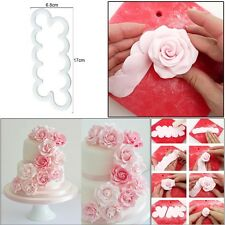 3D Fondant Sugar Craft Roses Rose Petal Cutter Wedding Birthday Cake Decoration