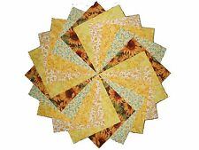 "10 10"" Quilting LAYER CAKE Squares Sunshine Yellow BUY IT NOW 5 PRINTS-2 OF EACH"