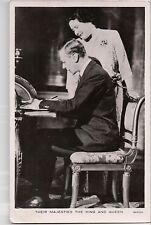 Vintage Postcard  King George VI Great Britian Queen Elisabeth The Queen Mother
