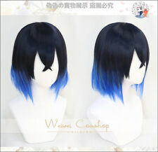 Hashibira Inosuke Short Blue Ombre Wig Demon Slayer Kimetsu no Yaiba Cosplay Wig