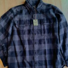 NWT Filson Vintage Flannel Shirt Long Sleeve Plaid Buffalo Black Gray $145