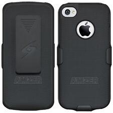 Amzer Shellster Shell Holster Combo Case Cover for Apple iPhone 5 5s - Black