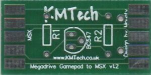 JoyMega Adapter to Control 3 Button MSX Games with Megadrive Gamepad PCB DIY