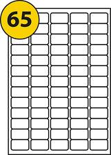 50 Sheets 65 Labels per Sheet Label Size 38.1 X 21.2 Mm L7651/j8651 Compatible