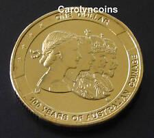 2010 $1 Coin 100 Year of Australian Coinage 1 Dollar P Perth Privymark UNC