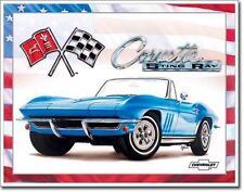 Corvette 1965 Stingray USA Metall Deko Schild Plakat