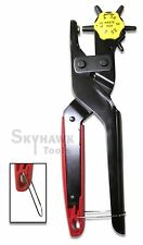 """New 6 Sized 9"""" Revolving Leather Hole Punch Hand Pliers Belt Holes Punches"""