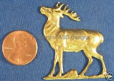 6pc Raw Brass Bambi White Tail Deer Elk Finding 5520