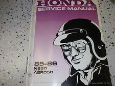 1985 1986 Honda NB50 Aero 50 Scooter Service Reparatur Shop Manuell OEM Fabrik