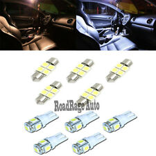 White LED Replacement Interior Dome Map Lamp Trunk  License plate Light Bulb x10