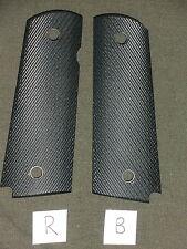 R 1911 Grips Diagonal Black Dymondwood 1911A1 Colt Kimber Springfield Micarta