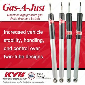 F + R KYB GAS-A-JUST Monotube Shock Absorbers for MERCEDES BENZ W210 E320 E430