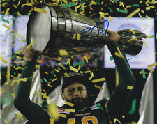 MIKE REILLY SIGNED AUTOGRAPHED EDMONTON ESKIMOS 2015 GREY CUP 8X10 PHOTO PROOF 2