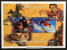 Harry Potter Stamp Sheet 2v 2001 Mnh Faux Issue Fantasy Wizard Magic Witchcraft