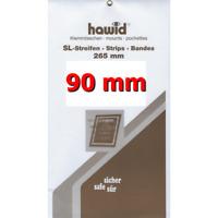 Bandes Hawid double soudure 265 x 90 mm pour blocs, carnets de timbres.