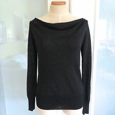 *NEW* Pippa Black Metallic Cowl Wide Boatneck Sweater Top. Small NWT