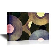 Wall26 - Vinyl Records Discs Gallery - Canvas Art Wall Decor - 24x36 inches