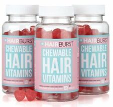 Hairburst vitamins for Hair Growth Chewable Heart 180 , 3 month supply NATURAL