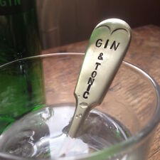 G & T Vintage Antique Silver Plated Handcrafted Gin Tonic Drink Cocktail Stirrer