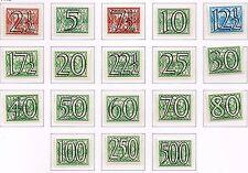 Netherlands 1940 Definitives surcharged TOP SET  MNH