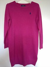 New Genuine Ralph Laurent Girls Pink Wool dress Size 7 Years