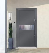 Entrance door with aluminium Schüco system, model exclusive doors EXD 003