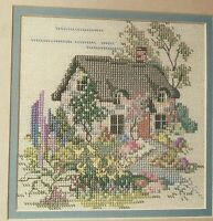 Thatched Cotswalds English Cottage Cross Stitch Pattern from magazine