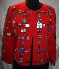 Michael Simon Event Christmas Holiday Cardigan Sweater M Sequins Presents Ugly?