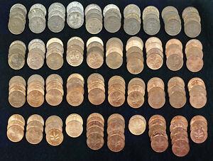 2 pfennig1950-1996, 156 Stück