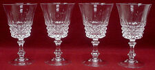 CRISTAL D'ARQUES Durand crystal TUILLERIES-VILLANDRY pattern WINE GOBLET set 4