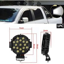"7"" LED Offroad Light 51W w/Mounting Bracket Black Round Spot Bumper Driving Lamp"