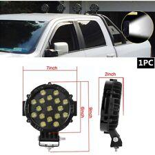 "7"" LED Offroad Light 51W w/Mounting Bracket Black Round Spot Bumper Driving Lamp"
