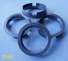 (Z20D) 4 Stück  Zentrierringe 72,6 / 56,6 mm anthrazit für Alufelgen