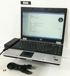 "HP ELITEBOOK 6930P 14"" LAPTOP CORE 2 DUO P8600 4GB 320GB WIN 7 PRO H550"
