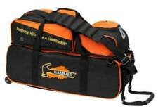 Hammer 3 Ball Bowling Bag Triple Tote with shoe pocket Orange NEW