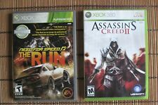 XBOX 360 NEED FOR SPEED * THE RUN *  &  ASSASSIN'S CREED 2 GAME LOT