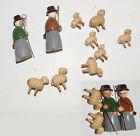 Vintage German Christmas Pyramid Replacement Sheep&shepherds erzgebirgische wood