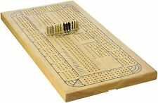 4 Track Classic Cribbage Wood Board Game Continuous New Vintage Pegs