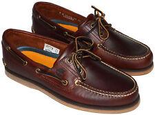Timberland 25077 Herren Schuhe 2 Eye Bootsschuhe Echtleder braun alle Größen
