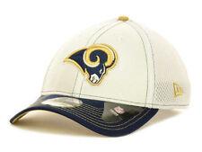 LOS ANGELES RAMS NEW ERA 39THIRTY NFL TWO TONE FLEXFIT MESH CAP HAT S/M