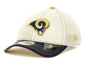 Los Angeles Rams New Era 39Thirty NFL White Flex Fit Mesh Cap Hat S/M