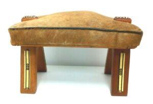 Vintage Camel Saddle Foot Stool
