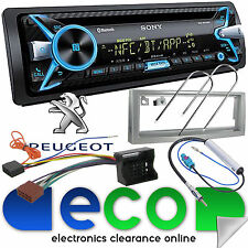 PEUGEOT 407 Sony 55x4 CD MP3 USB Bluetooth Voiture Stéréo Argent Carénage Kit de montage